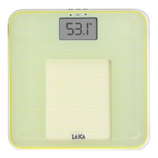 LAICA Personenwaage PS4010 Body Compostition Glas/ Gelb
