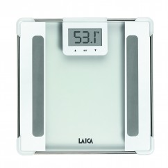 LAICA Personenwaage PS5010 Body Compostition Glas/ White