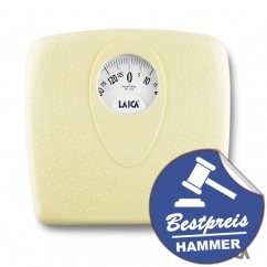 LAICA Personenwaage PL8019 Analog Yellow